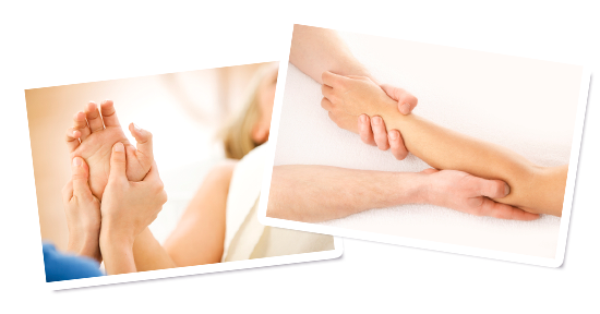 Arm and hand massage at Happy Health Clinics
